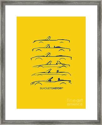 Italian Roadster Silhouettehistory Framed Print