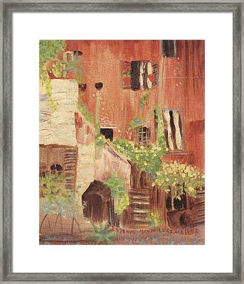 Italian Scene Framed Print by Suzanne  Marie Leclair