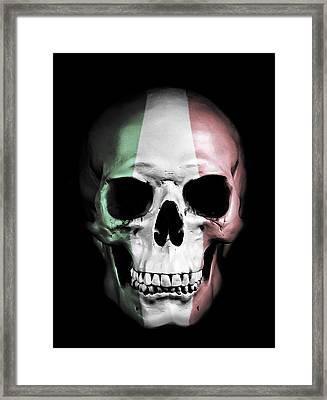 Italian Skull Framed Print