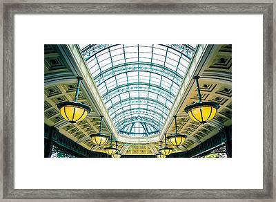 Framed Print featuring the photograph Italian Skylight by Bobby Villapando