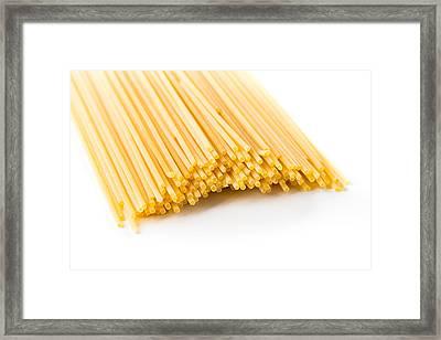 Italian Spaghetti Extruded Through Bronze  Framed Print
