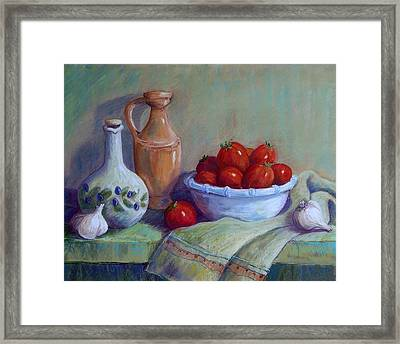 Italian Still Life Framed Print by Candy Mayer