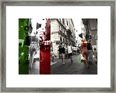 Italian Street Light Framed Print by Nick Mattea