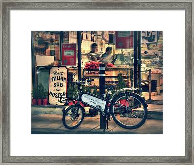 Italian Sub Shop - Monica's Mercato - Boston North End Framed Print