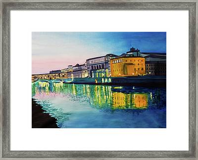 Italian Sunset Framed Print