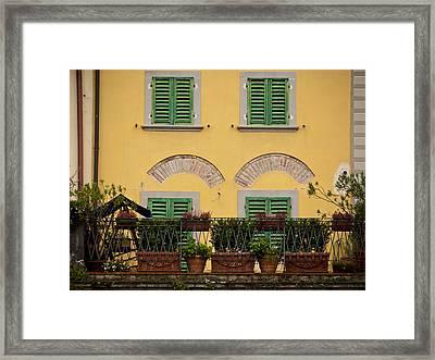 Italian Terrace Framed Print by Rae Tucker