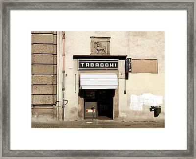 Italian Tobacconist Framed Print