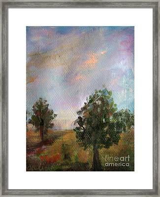 Italian Trees Framed Print by Rosalia  Tignini Verdun