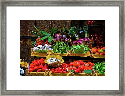 Italian Vegetables  Framed Print