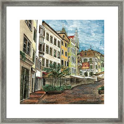 Italian Village 1 Framed Print by Debbie DeWitt