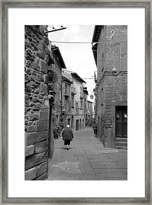 Italian Walk Framed Print by Valentino Visentini