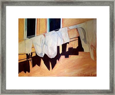 Framed Print featuring the painting Italian Wash by Patricia Arroyo