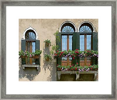 Italian Windows Framed Print by Julie Geiss
