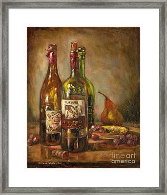 Italian Wine Bottles Framed Print by Brenda Brannon