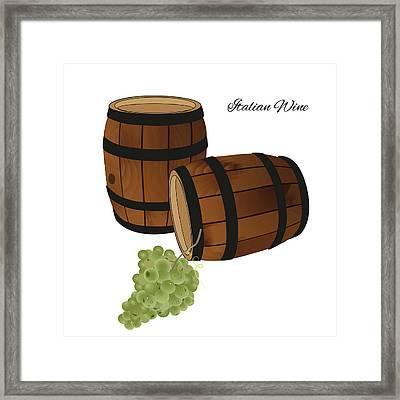 Italian Wine Framed Print by Marina Usmanskaya