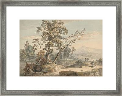Italianate Landscape With Travellers No. 2 Framed Print