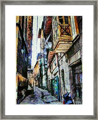 Italian Street Framed Print