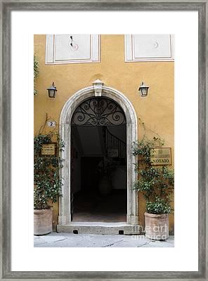 Italy - Door Thirteen Framed Print