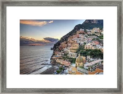 Italy, Amalfi Coast, Positano Framed Print