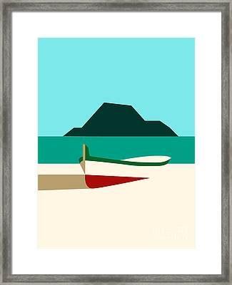 Italy Boat Framed Print by Islam Hassan