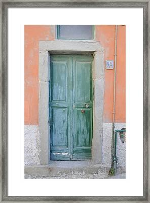 Italy - Door Five Framed Print