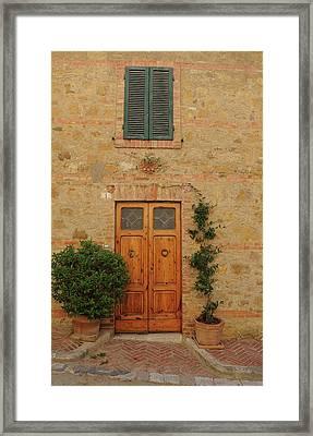 Italy - Door Nine Framed Print