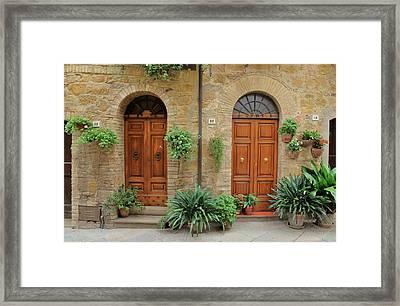 Italy - Door Seventeen Framed Print
