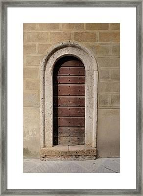 Italy - Door Ten Framed Print