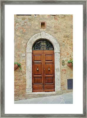 Italy - Door Twelve Framed Print