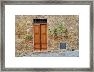 Italy - Door Twenty Framed Print