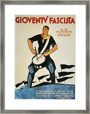 Italy: Fascist Magazine Framed Print by Granger