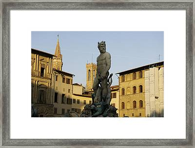 Italy, Florence, Neptune Fountain Framed Print by Sisse Brimberg & Cotton Coulson