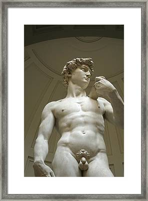 Italy, Florence, Statue Of David Framed Print by Sisse Brimberg & Cotton Coulson