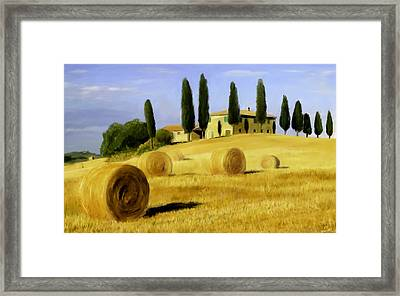 Italy In Fall Framed Print