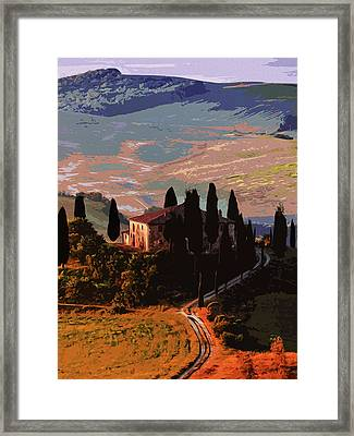Italy, Kissed By The Sun Framed Print