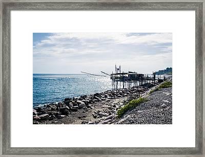 Italy - The Trabocchi Coast 2  Framed Print
