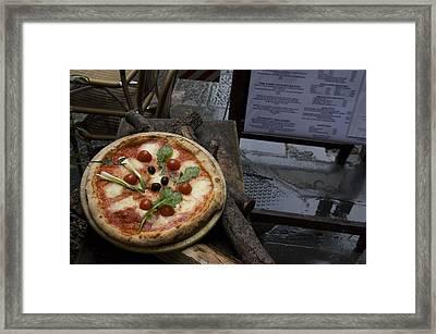 Italy, Tuscany, Florence, A Pizza Framed Print by Keenpress