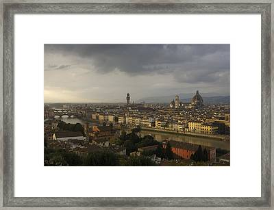 Italy, Tuscany, Florence, Elevated View Framed Print by Keenpress