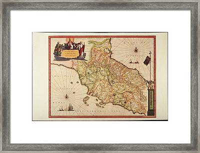 Italy, Vatican Church State,  Tuscany, Elba Island, And Marche Region Framed Print