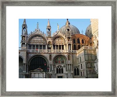 Italy Venice Doges Palace Framed Print by Yvonne Ayoub
