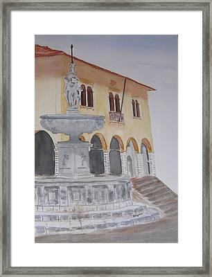 Italy, Vittorio Veneto Framed Print