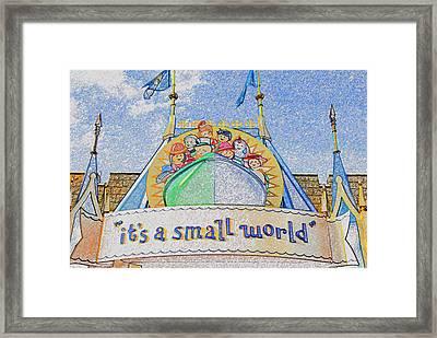 It's A Small World Entrance Original Work Framed Print