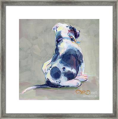 Itch Framed Print by Kimberly Santini