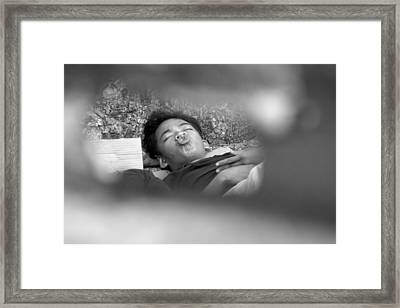 Itchy Nose Framed Print by Jez C Self