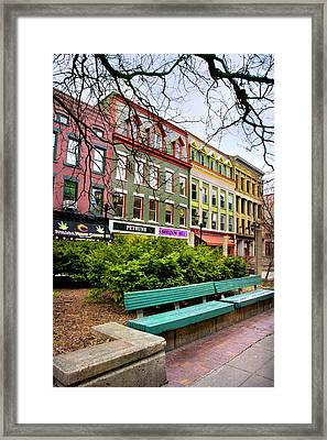 Ithaca Commons Framed Print by Christina Rollo