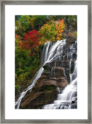 Ithaca Falls Framed Print by Mark Papke