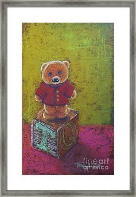 It's A Bear's World Framed Print by Tracy L Teeter