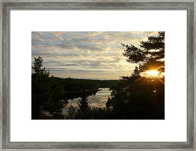 Framed Print featuring the photograph It's A Beautiful Morning by Debbie Oppermann