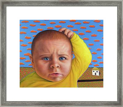 It's A Confusing World Framed Print by James W Johnson