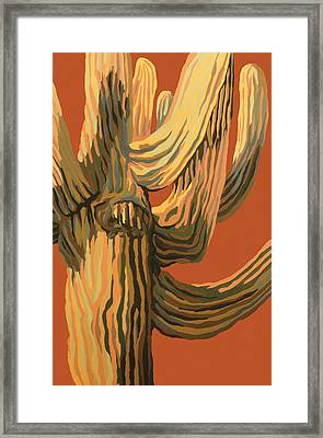 It's A Dry Heat Framed Print by Sandy Tracey